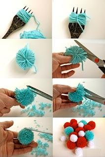 Como hacer Pompones y Decorar con Ellos