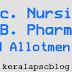 B.Sc. Nursing, B. Pharm Second Allotment Result 2014