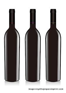 Botellas de vino sin etiquetas