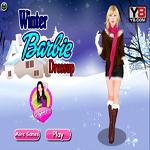 لعبة تلبيس باربى ملابس الشتاء