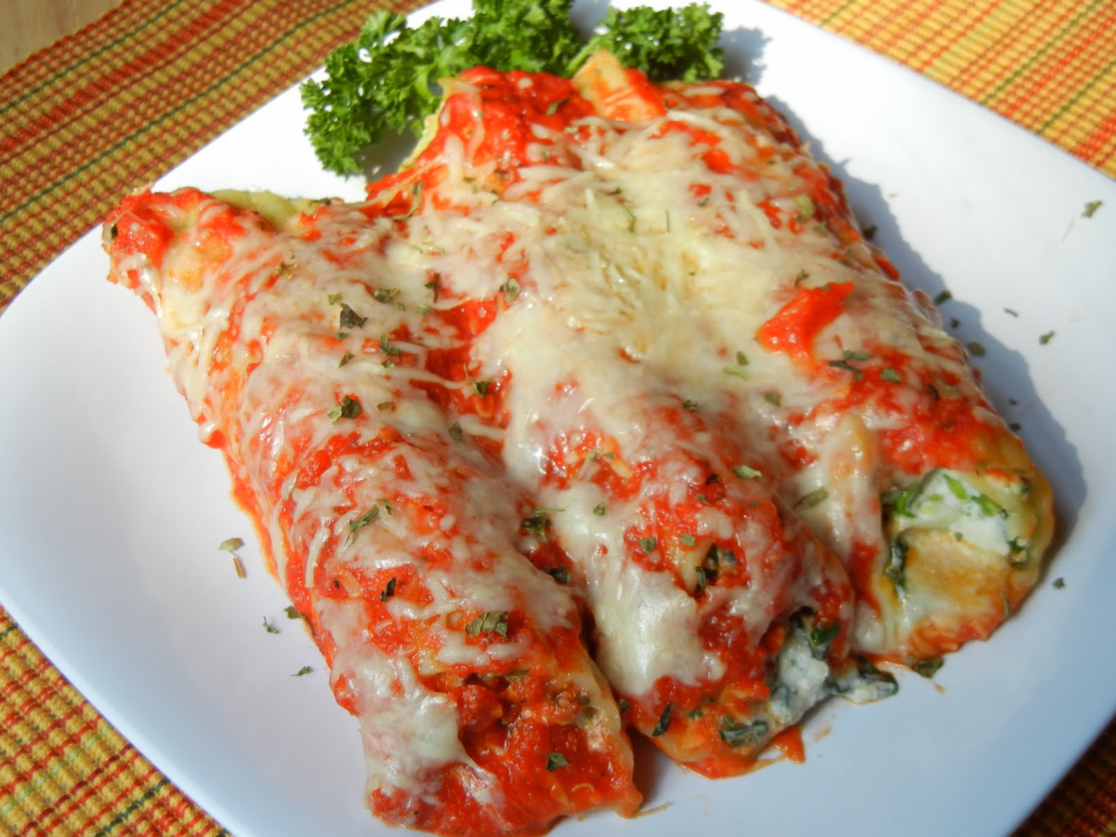 Mushroon Spinach Manicotti - Will Cook For Smiles