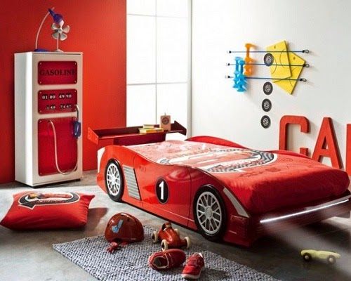 chambre enfants Couleur rouge