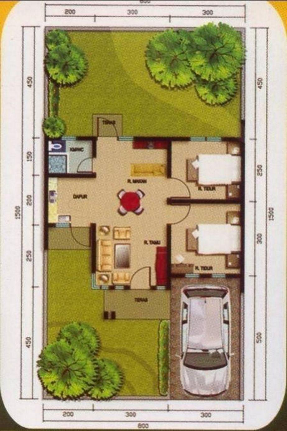 desain denah rumah type terbaru
