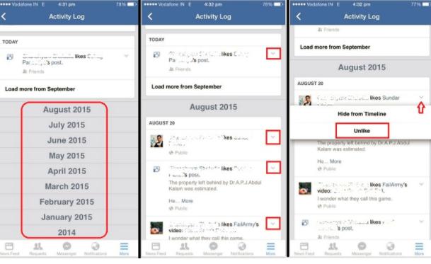 Facebook Clear Activity Log | Dagreenwing