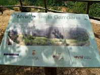 Plafó informatiu del Mirador de la Campana