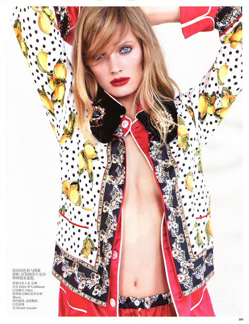 Constance Jablonski by Patrick Demarchelier for Vogue China, January 2013