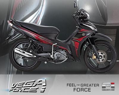Torsi maksimum Yamaha Vega Force i lebih besar dari Yamaha Jupiter Z1