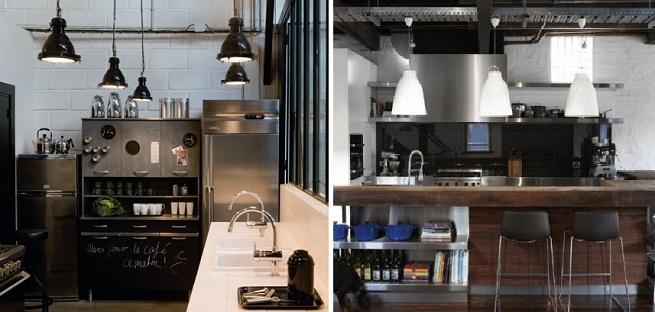 Estilo industrial en cocinas dos en la pasarela for Cocina estilo industrial