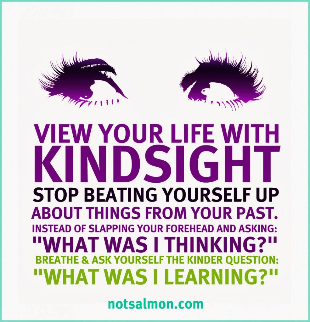 View Your Life With Kindsight - NotSalmon.com - Ann Again and again