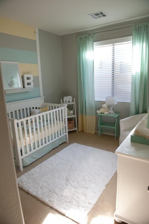 Decoração de quarto de bebê verde