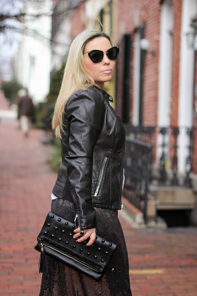 Black Leather Jacket from Express
