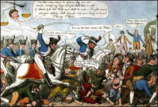 england in 1819 2 England in 1819 - an old, mad, blind, despised, and dying king.