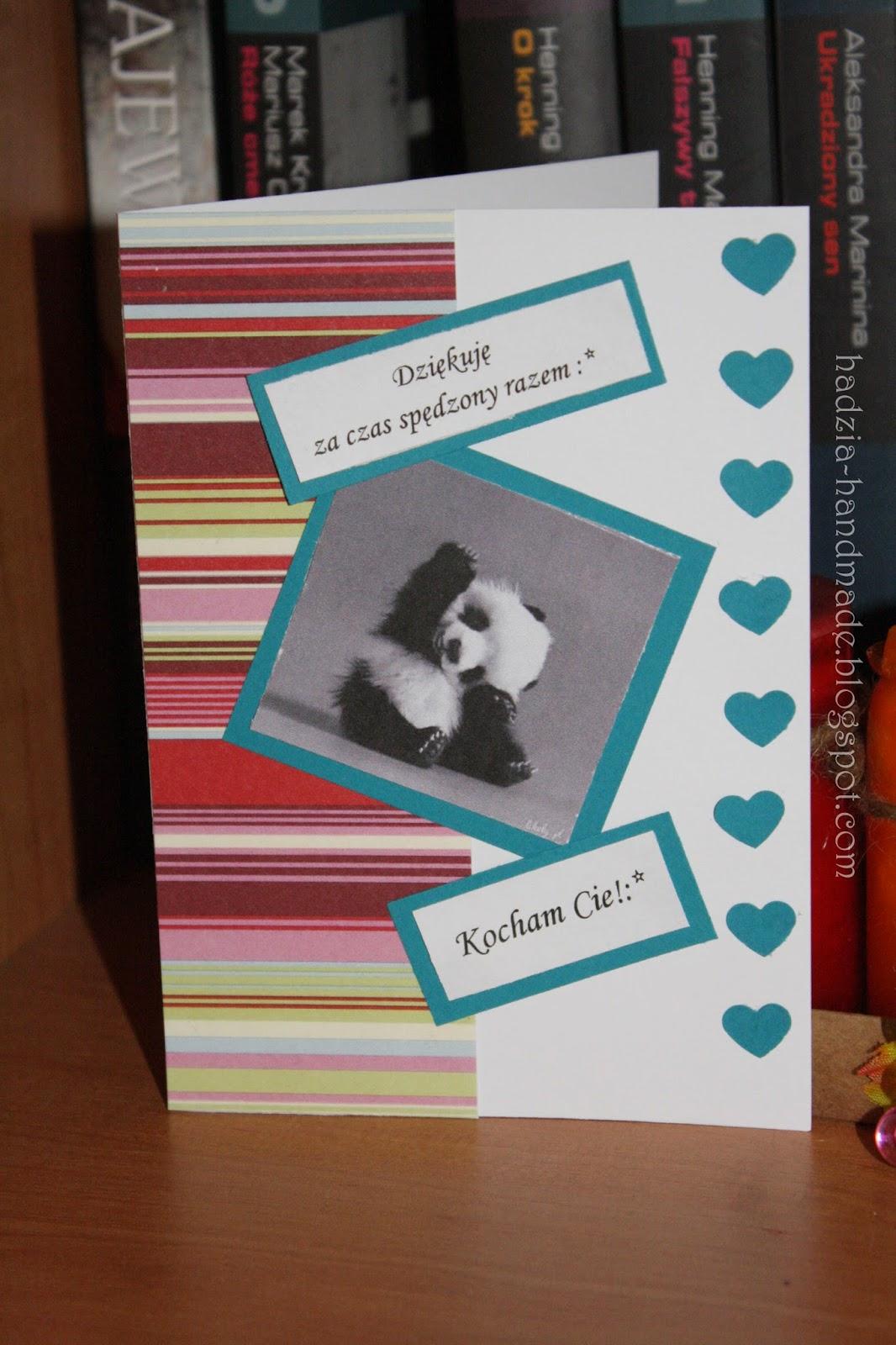 295. Kartka z pandą dla chłopaka