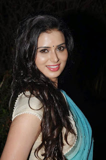 Actress Meenakshi Dixit Latest Pictures in Saree at Thenaliraman Movie Audio Launch 8.jpg