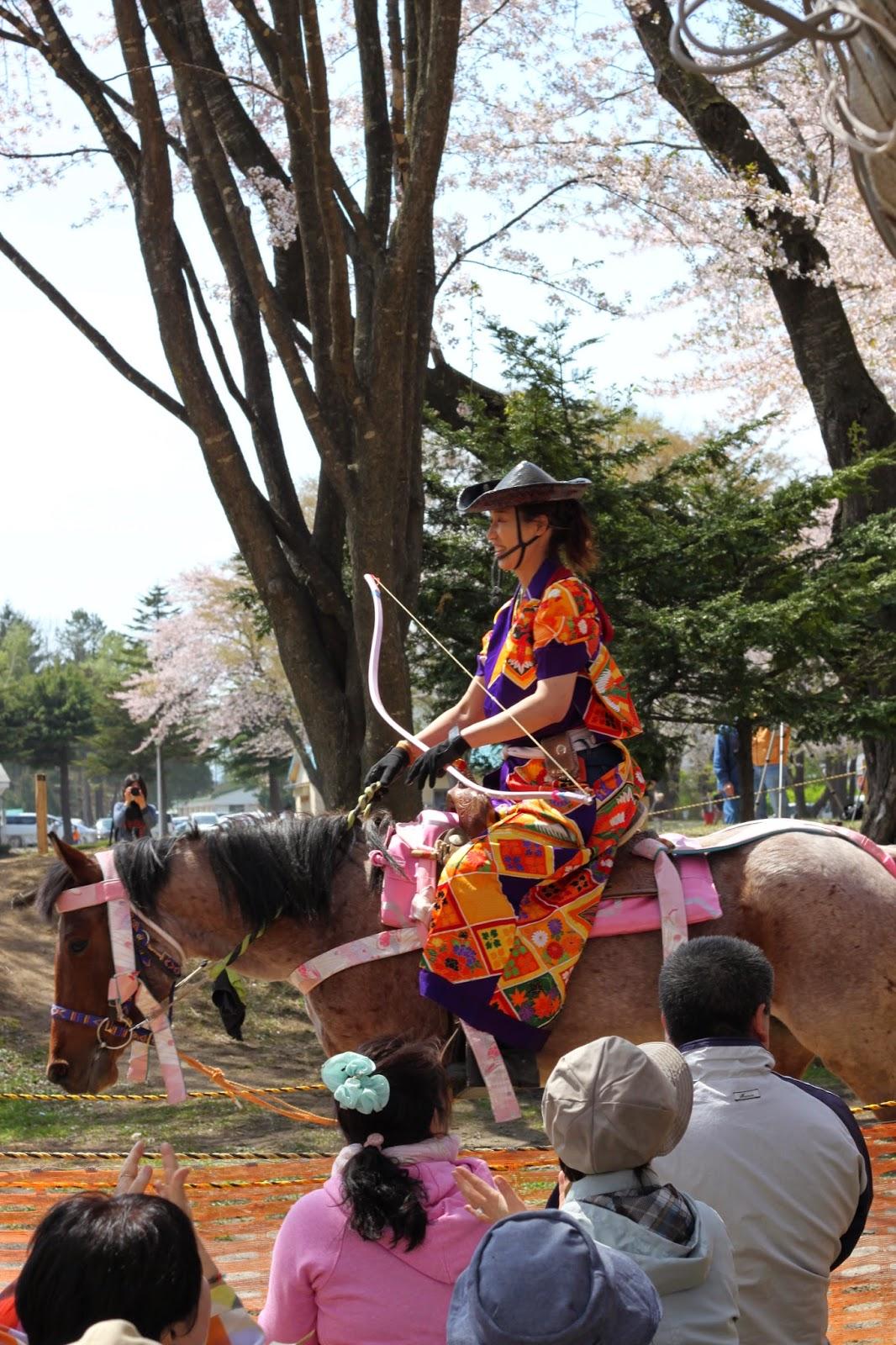 Towada Horseback Archery Sakura Yabusame 十和田市 2015桜流鏑馬