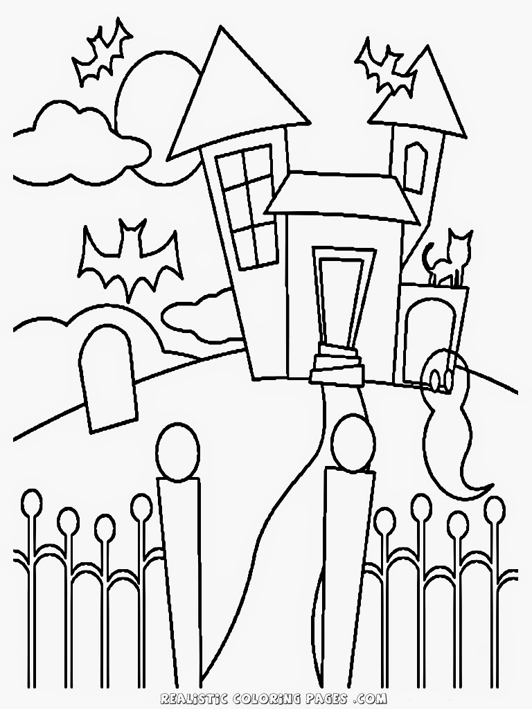 witches house kids halloween coloring pages