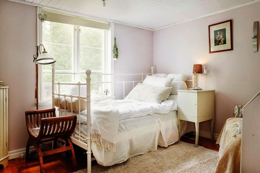 Dormitorios con encanto n rdico cl sico y aire shabby chic boho deco chic - Dormitorio con encanto ...