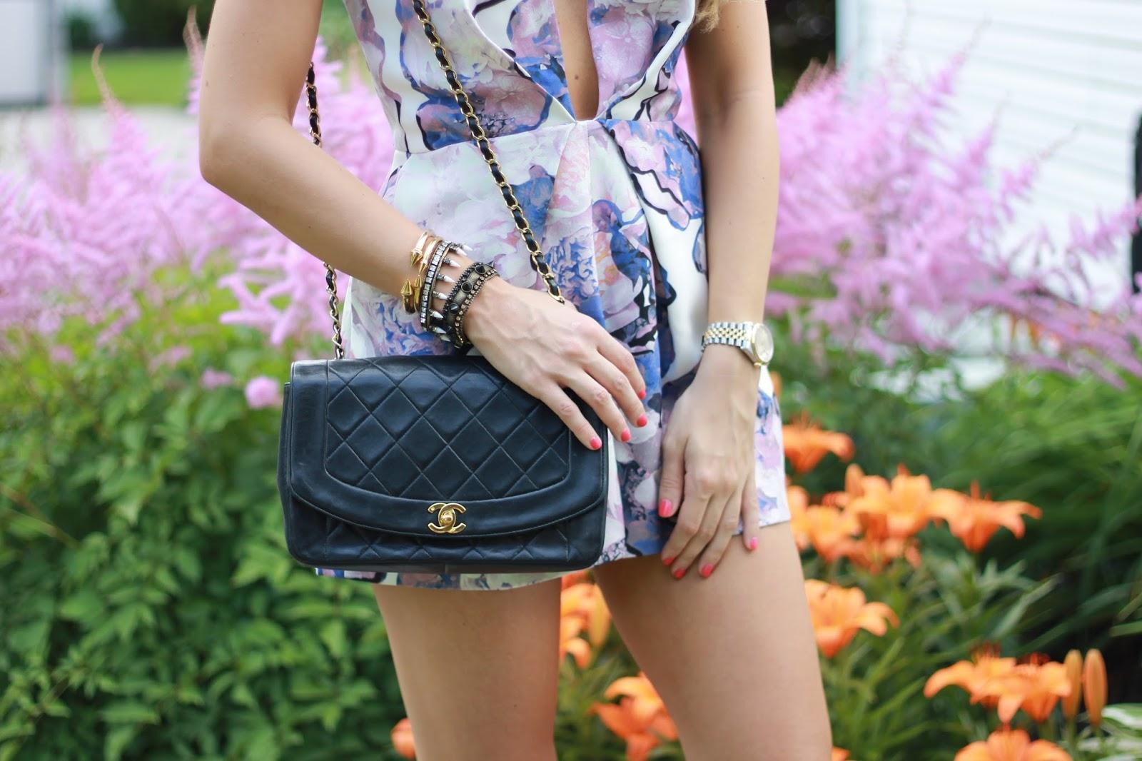 chanel vintage black bag, wcaga vintage chanel, lionette bracelet