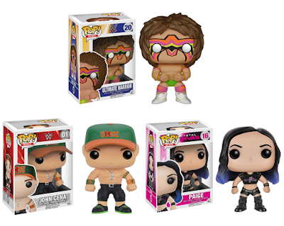 WWE Pop! Series 4 Vinyl Figures by Funko – Ultimate Warrior, John Cena & Paige