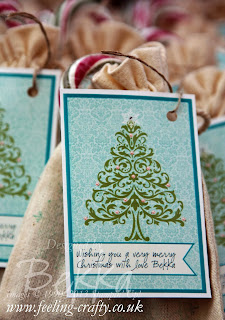 Fast and Fabulous Christmas Gift Packaging by UK based Stampin' Up! Demonstrator Bekka Prideaux