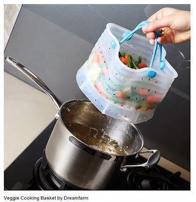Veggie cooking basket. Saquinho para cozer vegetais.