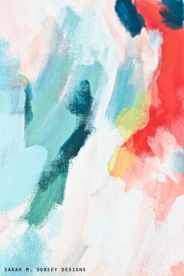 Sarah m dorsey designs diy abstract painting for Diy watercolor abstract art