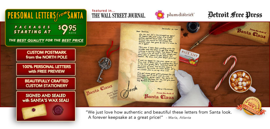 start the christmas season with an awesome personalized letter from