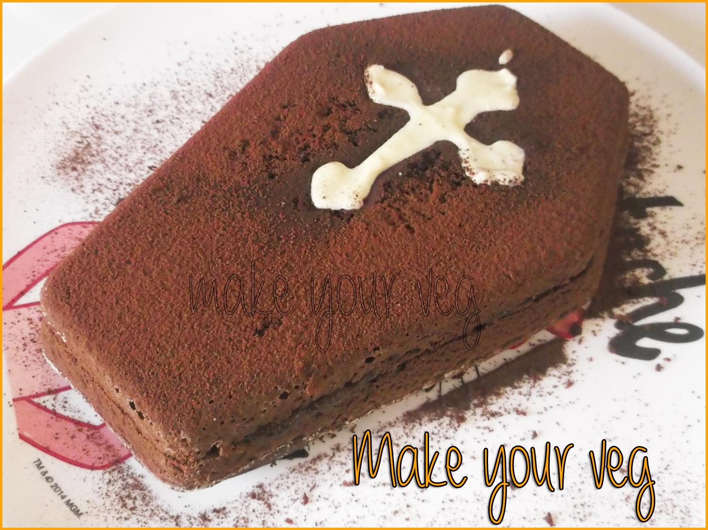 Make your Veg: [Veg in cucina] Torta cioccolatosa a forma di tomba ...