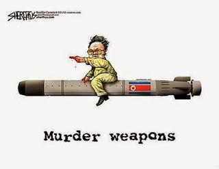 karikatur perang korea utara vs korea selatan
