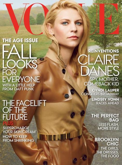 Claire Danes US Vogue August 2013 Cover