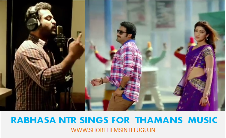 RAAKASI SONG SUNG BY JR NTR FULLVIDEO IN THAMAN RECORDING STUDIO
