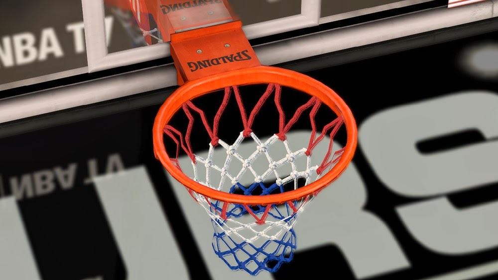 NBA 2k14 Basketball Net Mods - Red, White and Blue