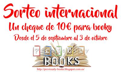 SORTEO INTERNACIONAL DE UN CHEQUE DE 10€ EN BOOKY