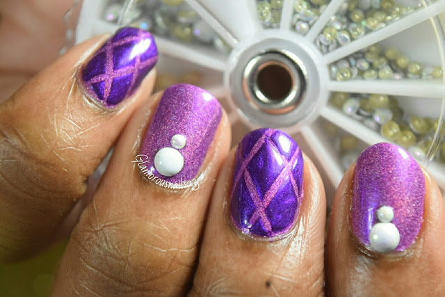 Diamonds & Studs Nail Art