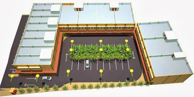 Site Plan 3D Gudang