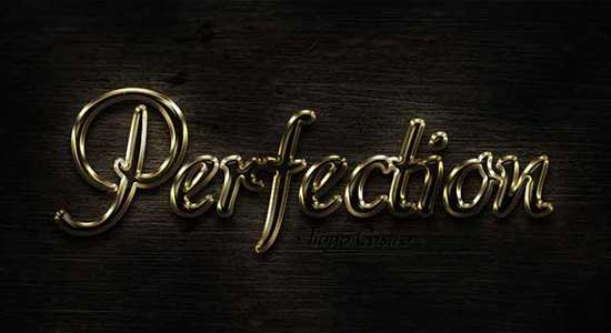 photoshop-text-effects-tutorials-Combined-Gold-And-Glass-Text-Effect