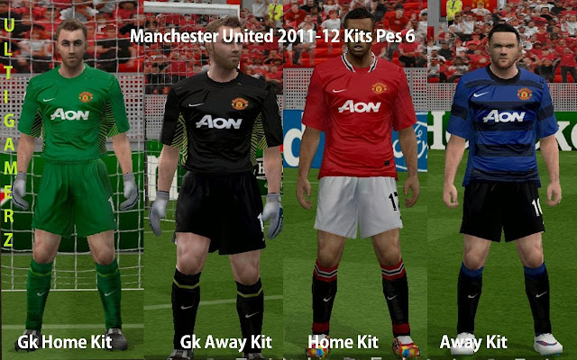 70fdfa47c ultigamerz  MANCHESTER UNITED 2011 TO 2016 KITS PES 6
