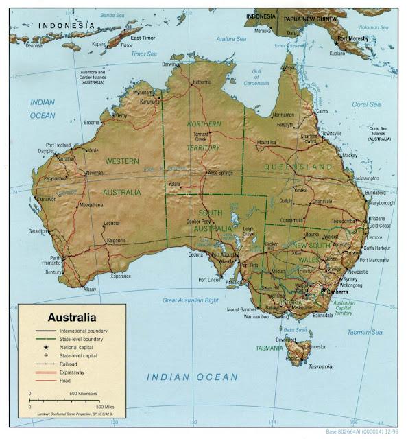 Avustralya haritası 3