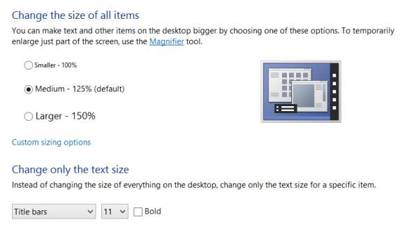 change resolution in windows 8 screen