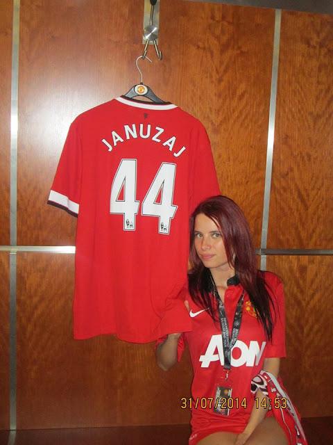 Anna with Januzaj t-shirt