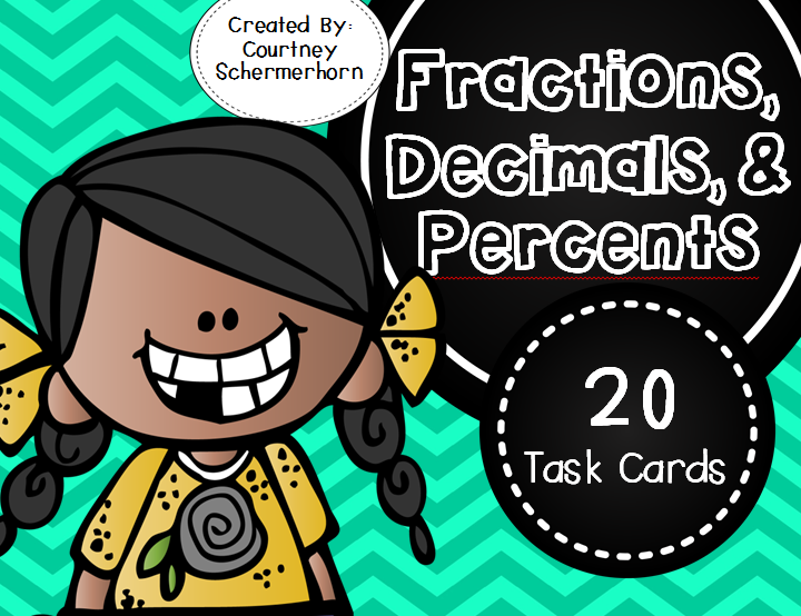 https://www.teacherspayteachers.com/Product/Changing-Fractions-Decimals-Percents-Task-Cards-1839505