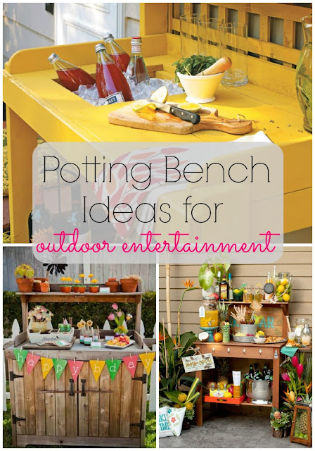 Potting Bench Ideas for Outdoor Entertainment & Parties
