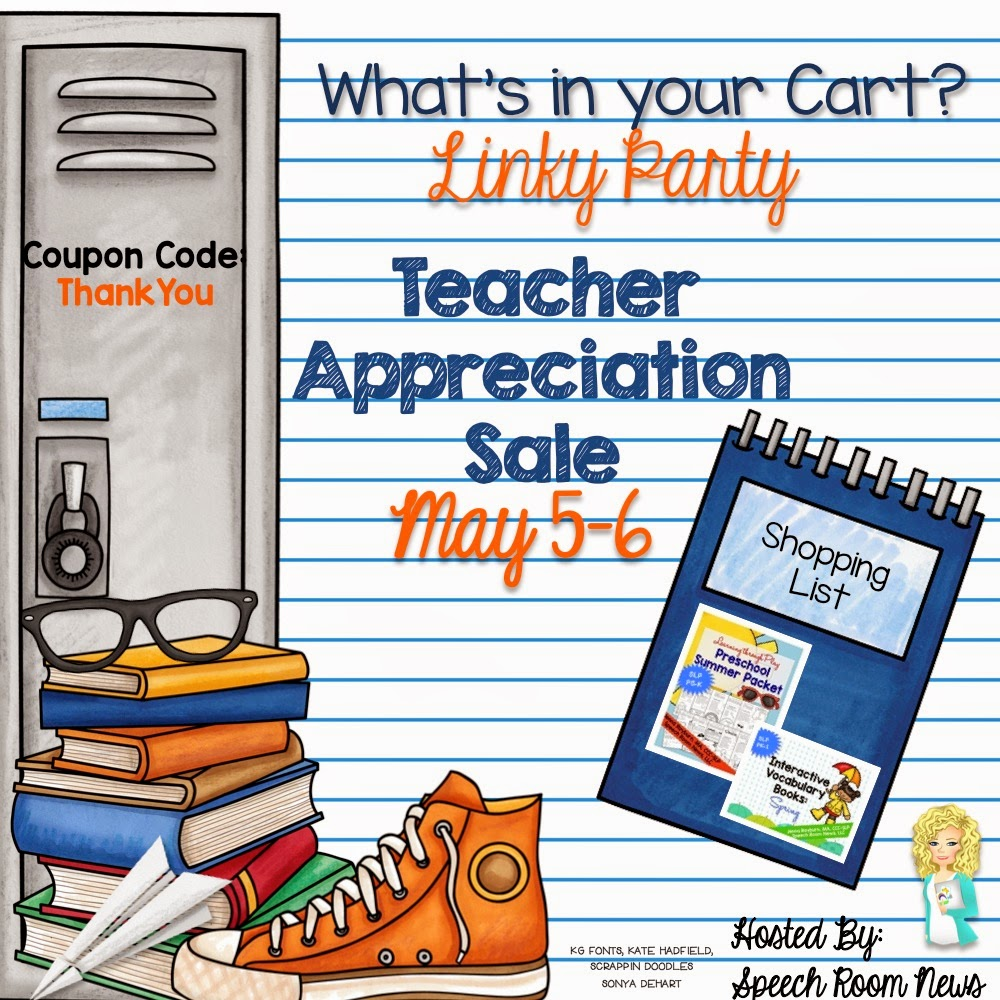 http://thespeechroomnews.com/2015/05/teacher-appreciation-sale-whats-in-your-carty-linky.html
