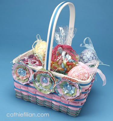 Cathie filian diy easter basket with torn paper flowers diy easter basket with torn paper flowers mightylinksfo