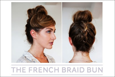 Simple French braid updo