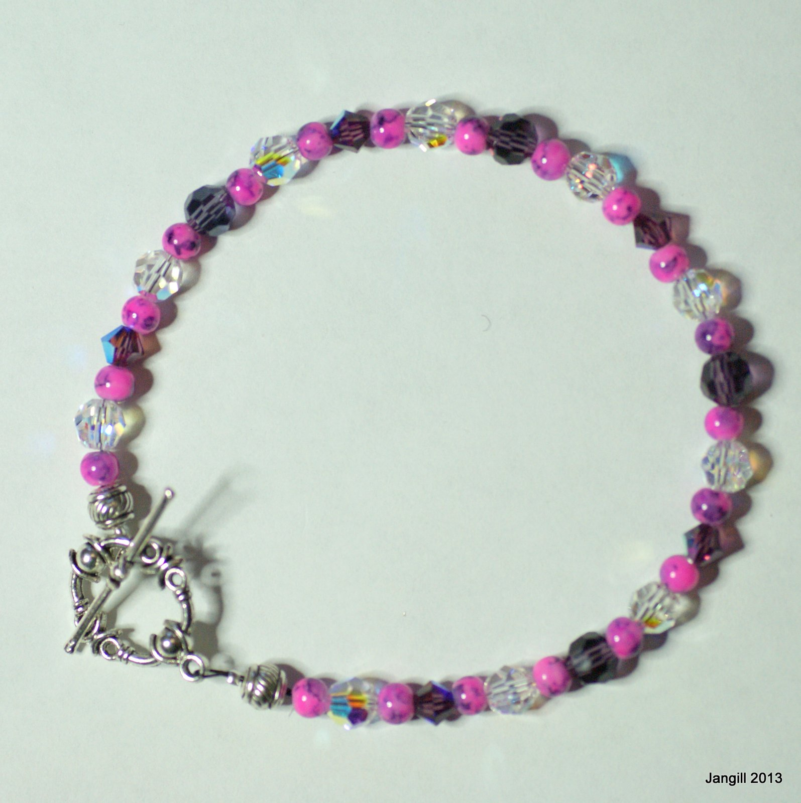jan gill and simple beaded bracelet