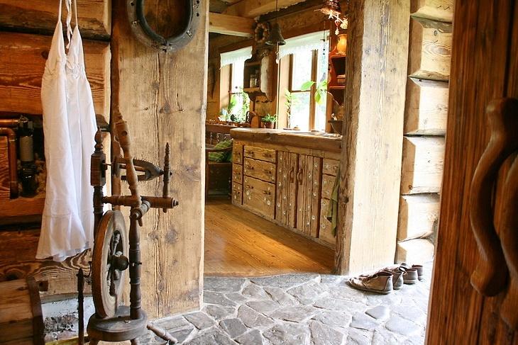 Estilo rustico interiores de cabana rustica - Casas de madera con encanto ...