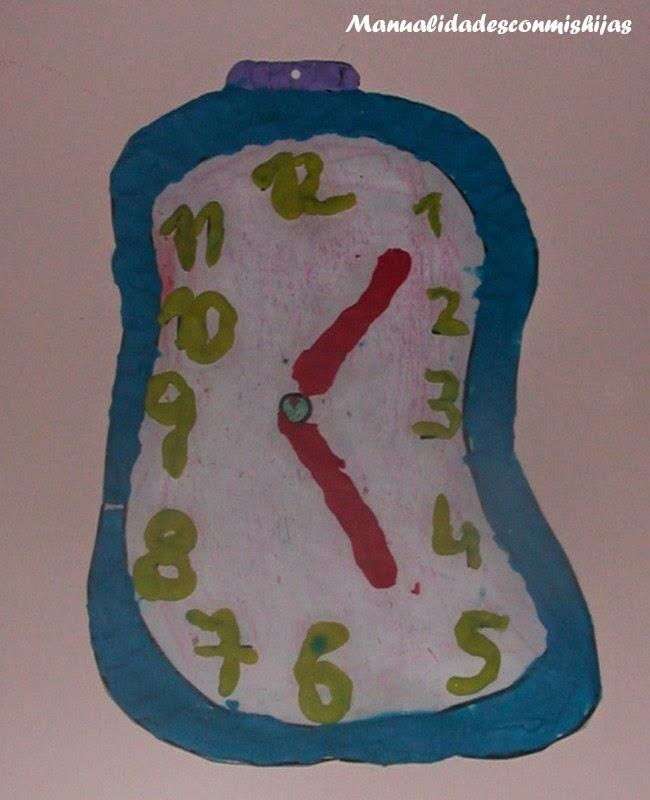 Manualidades con mis hijas: Reloj para aprender las horas