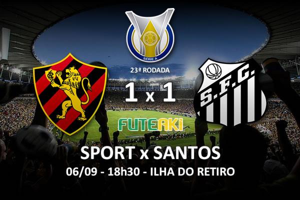 Veja o resumo da partida com os gols e os melhores momentos de Sport 1x1 Santos pela 23ª rodada do Brasileirão 2015.