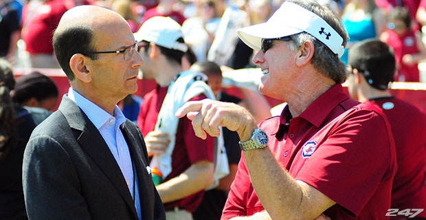 Paul Finebaum was unimpressed by Steve Spurrier's SEC Media Days appearance.
